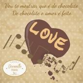 Cartela Doceville coração chocolate